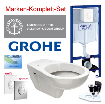 neu grohe sp lkasten vorwandelement wc set ii design wc dr ckerplatte komplett. Black Bedroom Furniture Sets. Home Design Ideas