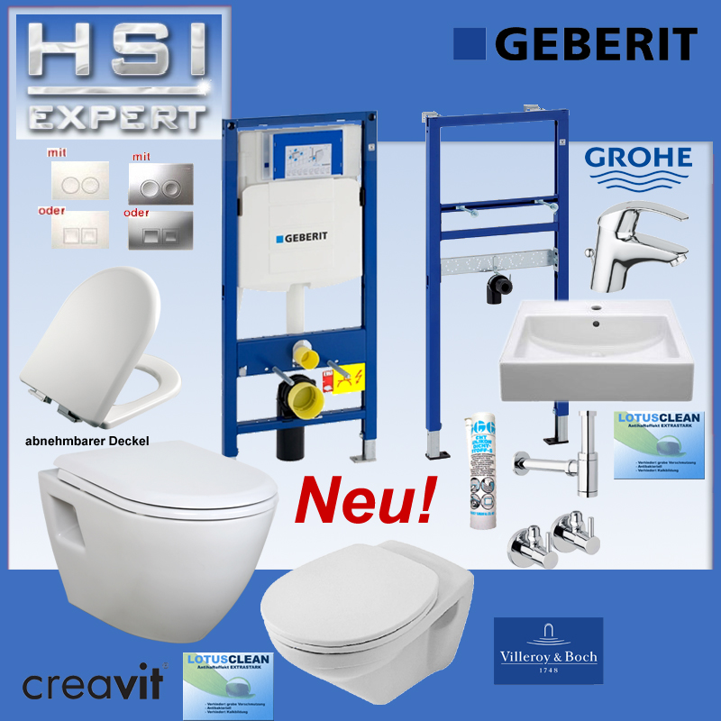 geberit duofix vorwandelement design wc o villeroy boch waschtisch komplett ebay. Black Bedroom Furniture Sets. Home Design Ideas