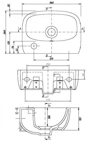 waschbecken waschtisch klein ceravid keramag gruppe. Black Bedroom Furniture Sets. Home Design Ideas